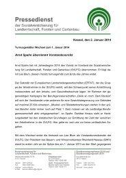 Turnusgemäßer Wechsel zum 1. Januar 2014 - SVLFG