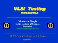 Testing in the Fourth Dimension - SERC - Indian Institute of Science