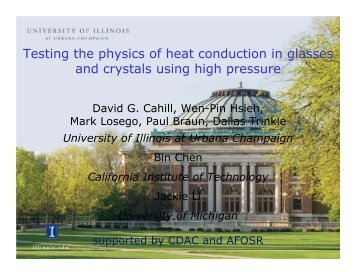Testing the physics of heat conduction in glasses and crystals using ...