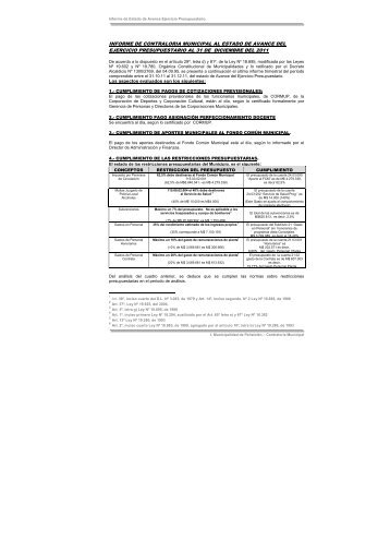 Informe Trimestral 31-12-2011 - Transparencia y Acceso a la ...