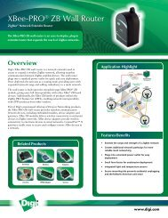 XBee-PRO ZB Wall Router - Datasheet - Delmation