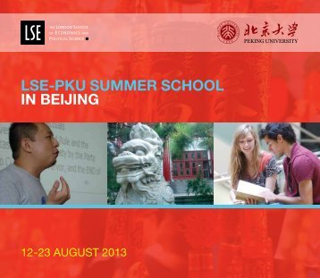 LSE-PKU Summer School 2013 Brochure