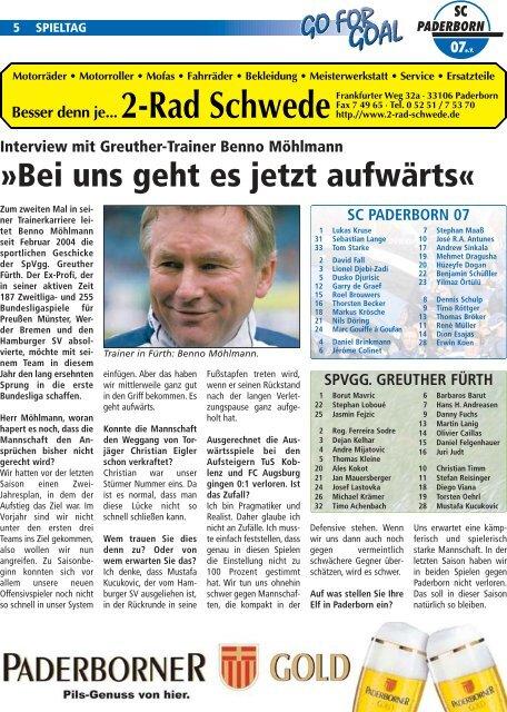 STADIONZEITUNG 7 - SC Paderborn 07