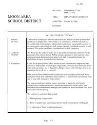 308 - Employment Contract - Moon Area School District