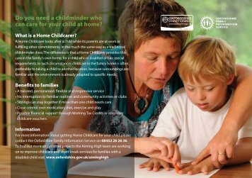 Do you need a childminder who can care for your child at home?