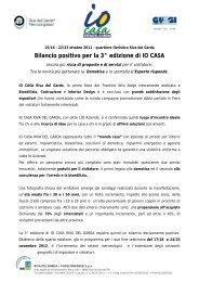 Bilancio positivo per la 3^ edizione di IO CASA - Riva del Garda ...