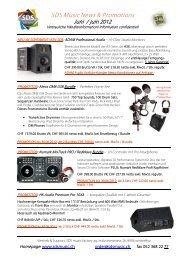 Produkteneuheiten – ab Lager lieferbar - SDS Music Factory AG