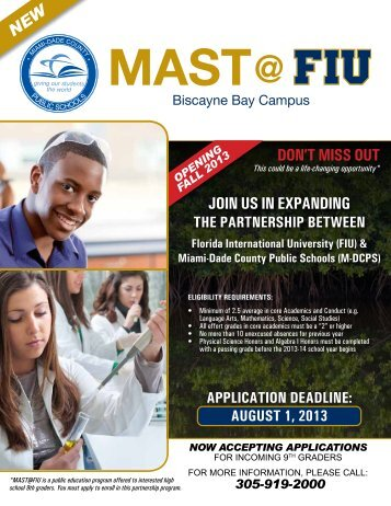 join us in expanding don't Miss out - News at FIU - Florida ...