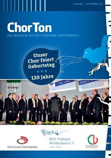 ChorTon - MGV Frohsinn Werthenbach