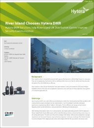 River Island Chooses Hytera DMR - Hytera UK