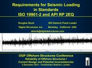 ISO 19901-2 & API RP 2EQ - Douglas Stock, Digital - OGP activities ...