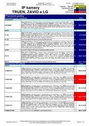 IP kamery TRUEN, ZAVIO a LG - Eurosat CS