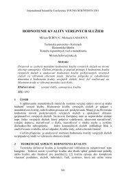 Hodnotenie kvality verejných služieb - TUKE