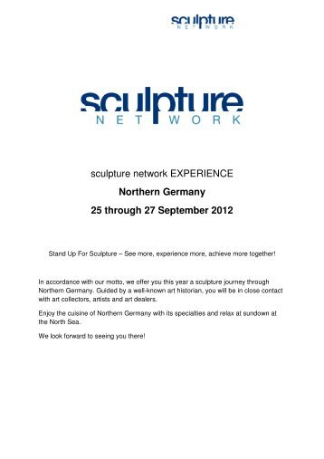 Northern Germany 25 through 27 September 2012 - sculpture network