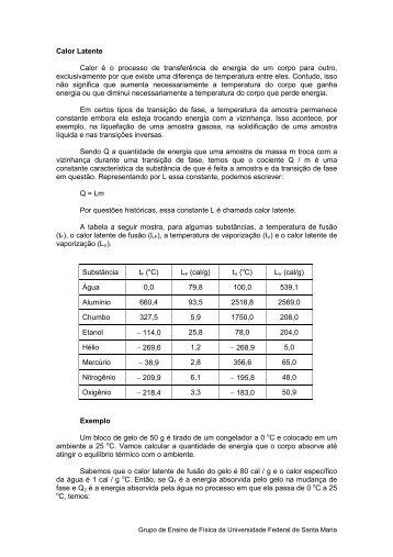 Calor Latente - UFSM