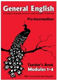 General English Pre-Intermediate Modules 1-4 Teacher's Guide (2.1 ...