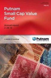Small Cap Value Fund Annual Report - Putnam Investments