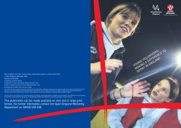 young volunteers: making a difference to sport in england