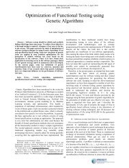 Optimization of Functional Testing using Genetic Algorithms - ijimt
