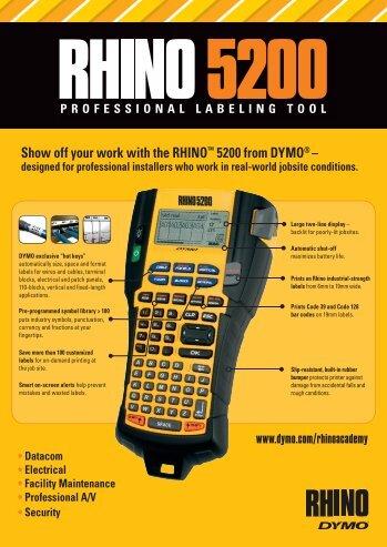 RHINO 5200 leaflet - DYMO