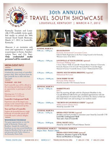 Schedule - Travel South USA