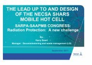 the lead up to and design of the necsa shars mobile ... - eventsm.co.za