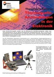 Thermografie- Anwendungen in der Elektronik - Herzog ...