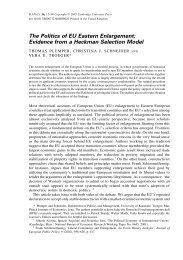 The Politics of EU Eastern Enlargement: Evidence from a Heckman ...