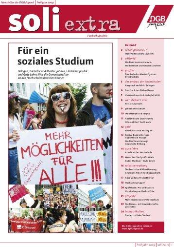 """soli extra """"Hochschulpolitik"""" - DGB Jugend Niedersachsen und ..."""