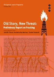 Old Story, New Threat: Preliminary Report on Fracking