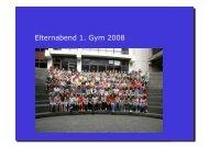 Elternabend 1G 2008 kurz