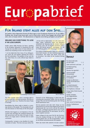 Europabrief Juni 2008 - Glante, Norbert