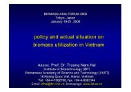 policy and actual situation on biomass utilization in Vietnam