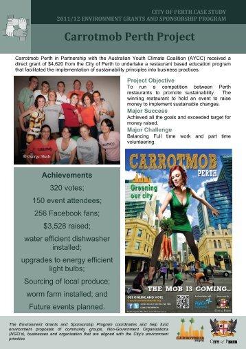 Carrotmob Perth Project - City of Perth