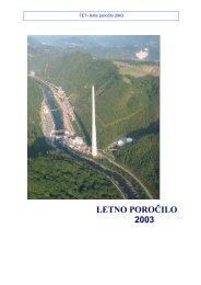 LETNO POROČILO 2003 - Termoelektrarna Trbovlje