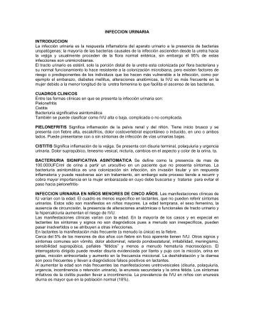 INFECCION URINARIA INTRODUCCION La infección ... - SIAD SPS