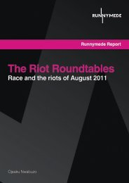 The Riot Roundtables - Runnymede Trust