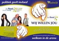 WIJ WILLEN JOU - D66 Waalwijk
