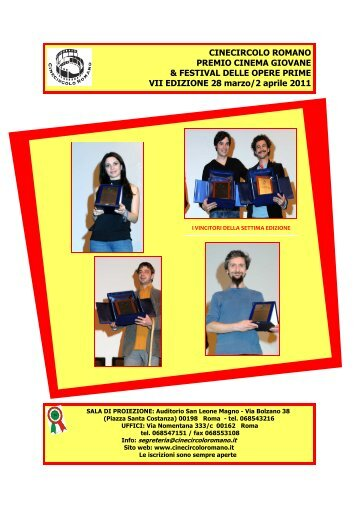 brochure 2011 - Cine Circolo Romano