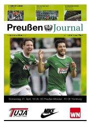 Donnerstag, 21. April, 19 Uhr: SC Preußen Münster - FC 08 Homburg