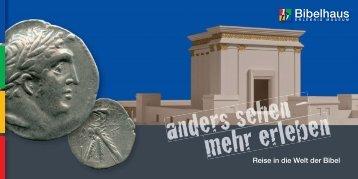 """Flyer """"anders sehen - mehr erleben"""" - Bibelhaus"""