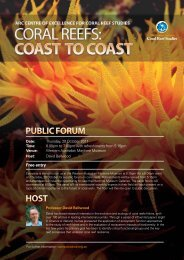 HOST Public FORuM - ARC Centre of Excellence for Coral Reef ...