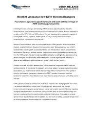 4 Channel KIRK Wireless Repeaters Released 2005-07-27 - Wavelink