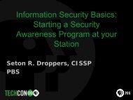Information Security Basics: Starting a Security Awareness ... - PBS
