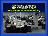 Improving Learning and Reducing Costs - AACRAO