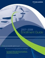 2007 - 2008 Annual Enrollment Guide - Benefits Online