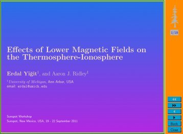 Effects of Lower Magnetic Fields on the Thermosphere-Ionosphere