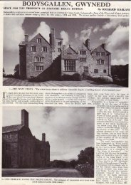 Press - Country Life editorial - Bodysgallen Hall