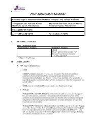 Prior Authorization Guideline - OptumRx