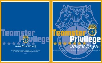 Benefits for you. - International Brotherhood of Teamsters